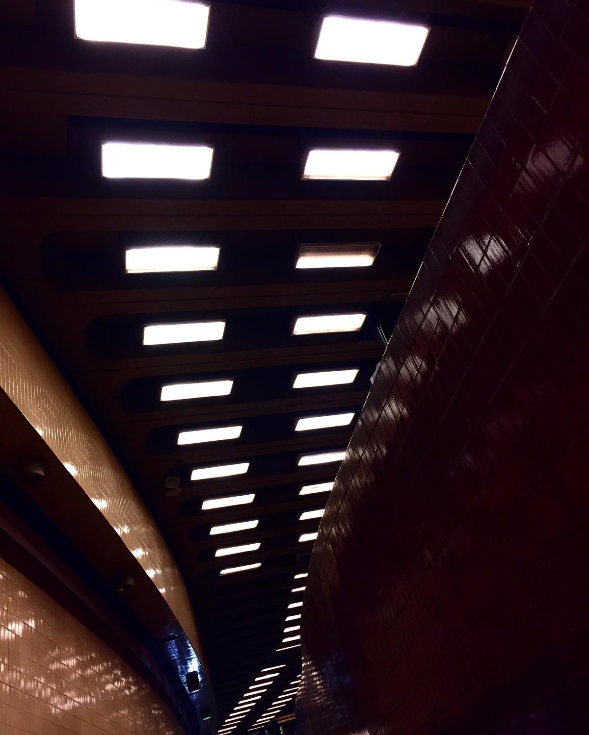 Harvard T Station at Night